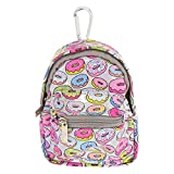 Claire's Girl's Holographic Donut Mini Backpack Keychain Coin Purse