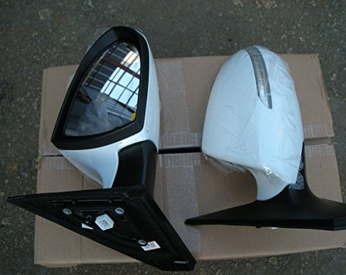 [Sell by Automotiveapple] -5case, Kia Motors OEM Genuine 876103W010, 876203W010, 935703W400WK LH RH LED Side Mirror Assembly PAINTED + Window Switch Lever 3-pc Set For 11 12 13 14 Kia Sportage (UD - Clear White) by Sportage (11 ~ 14) (Image #1)