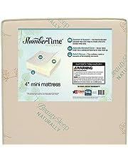 Simmons Kids SlumberTime Naturally 4-Inch Mini Crib Mattress   Waterproof   GREENGUARD Gold Certified  Made in The USA