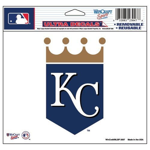(WinCraft MLB Kansas City Royals 14419071 Multi-Use Colored Decal, 5