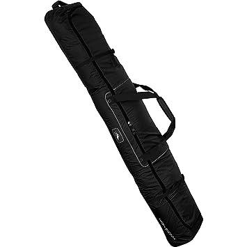 Amazon.com  High Sierra Deluxe Wheeled Double Ski Bag Black Black ... d5f05a1b4b6a8