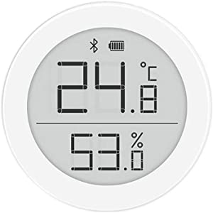 QingPing Bluetooth Thermo-Hygrometer H Version, 2 Modes Ultra-Low Power Consumption Ultra-Wide Viewing Angle Electronic Ink Screen Support Siri HomeKit