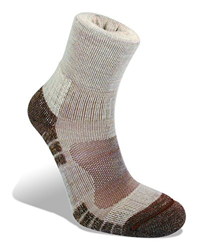 Bridgedale Mens Trail Light Wool Fusion Socks, X-Large, Chino with Sock Ring ()