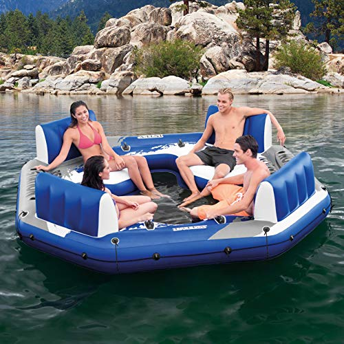Intex Pacific Paradise 4-Person Relaxation Station Water Lounge River Tube Raft by Intex (Image #1)