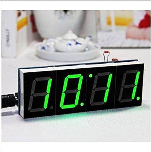 Zjchao DIY 4 Digit LED Electronic Clock Kit Large Screen Green LED kit
