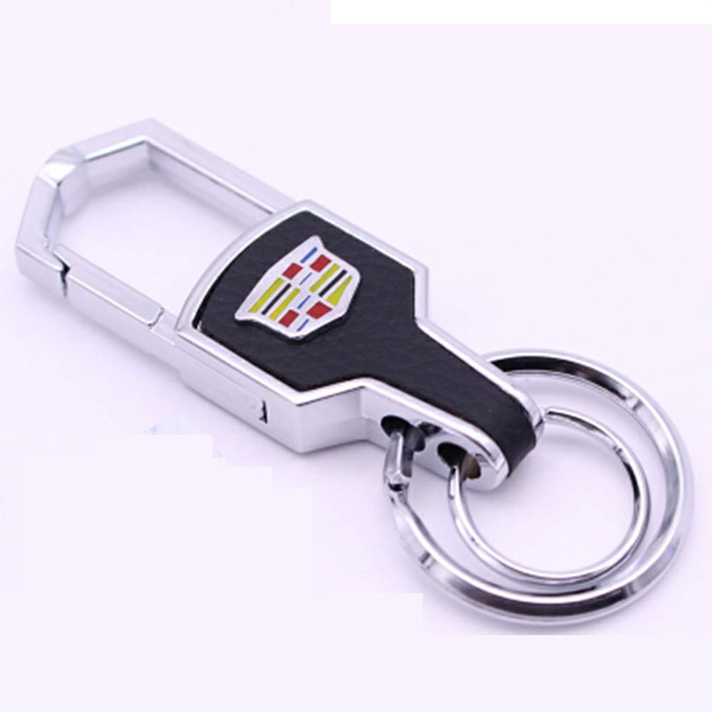 Duoles Genuine Leather Car Logo Keychain for BMW Key Ring Accessories for BMW
