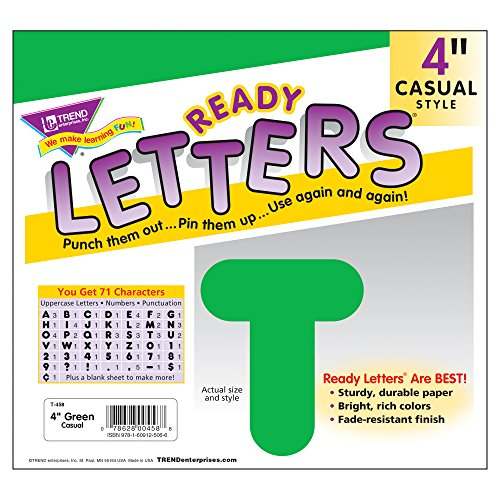 Trend Enterprises Casual Ready Letters, 72 per Package, 4