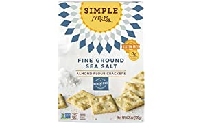 Simple Mills Almond Flour Crackers, Fine Ground Sea Salt, 4.25 oz (PACKAGING MAY VARY)