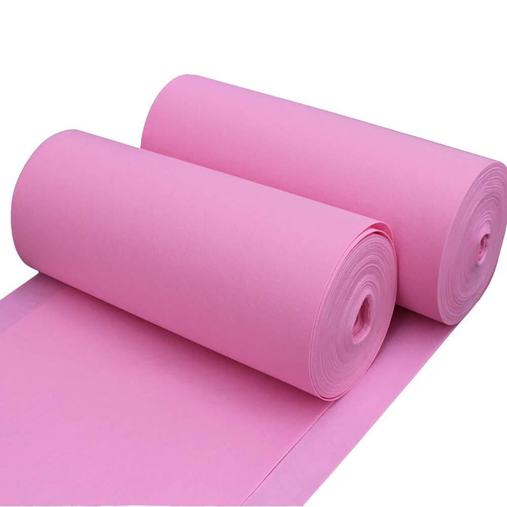 ピンクのカーペットの結婚式、厚さ2mmの結婚式の手配/お祝い/Tステージのカーペット滑り止め吸水、マルチサイズのオプション ++ (色 : Pink, サイズ さいず : 1.5Mx50M) 1.5Mx50M Pink B07PF84S3C