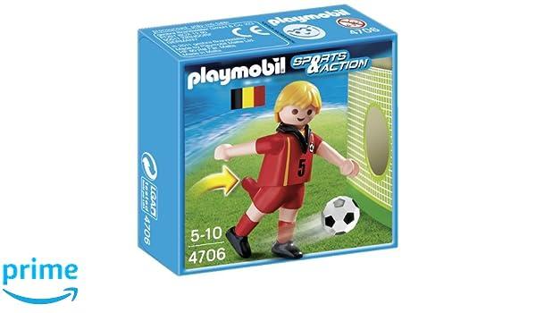 Playmobil Fútbol - Fútbol  jugador Bélgica (4706)  Amazon.es  Juguetes y  juegos 995e346ce53