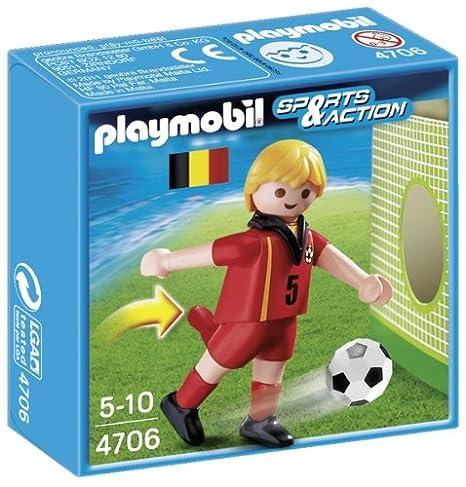 Playmobil Fútbol - Fútbol  jugador Bélgica (4706)  Amazon.es ... 0b663a493d8