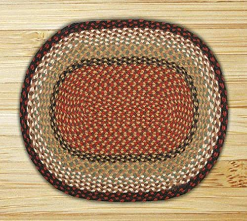 Earth Rugs Oval Area Rug, 6 x 9 , Burgundy Mustard