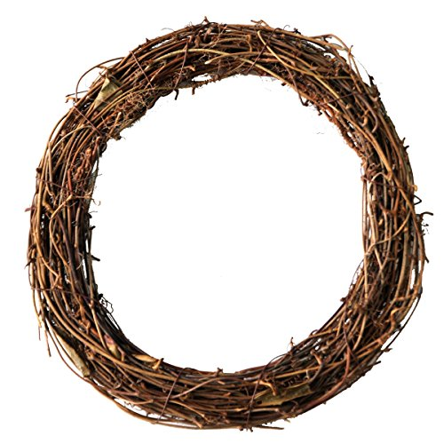 8 Inch Grapevine - Ougual DIY Crafts Natural Grapevine Wreaths (8 Inch, 4 Pack)