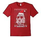 Mens Otterhound Merry Barkmas Christmas Gift Shirt Large Cranberry