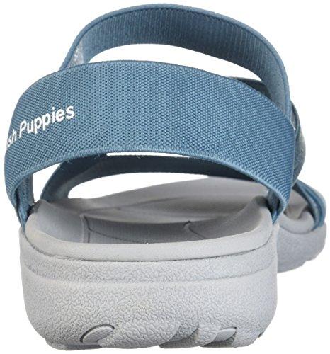 Hush Puppies Kvinna Labsky Elastisk Sport Sandal Blågrön