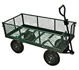 Selections Garden Large Trolley / Cart All Terrain Ideal for Festivals, Camping & Garden Rubbish Clearance, Folding Sides For Easy Loading - Off Road Tyres & Steering