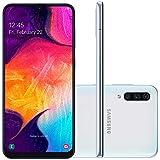 Smartphone Samsung Galaxy A50, 64Gb, Tela 6.4'', Branco, Sm-A505Gzwbzto