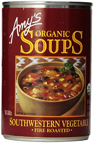 Amy's Organic Soups, Fire Roasted Southwestern Vegetable, 14.3 oz (Amys Soup Black Bean)