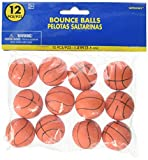 Amscan Cool Basketball Bounce Balls Sports Party Toy, Red, 35mm