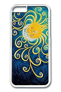 iPhone 6 Case, Sun Meet Moon Custom Hard PC Clear Case Cover Protector for New iPhone 6 4.7inch
