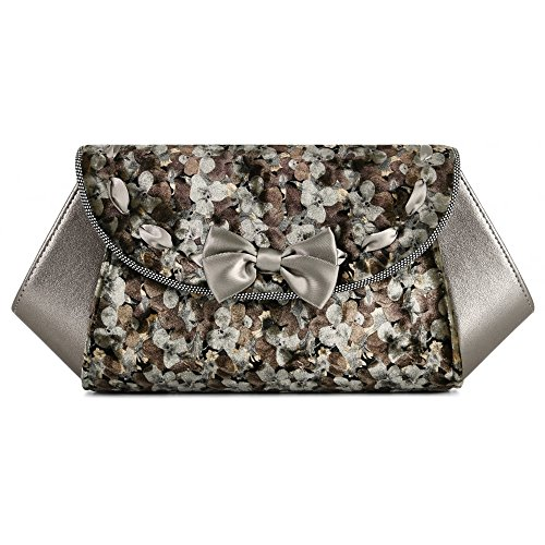 Ruby Shoo Palma Pewter Womens Hand Clutch Bag