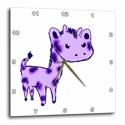 3d Rose 3dRose dpp_32759_1 Cute Purple Giraffe Cartoon Ar...