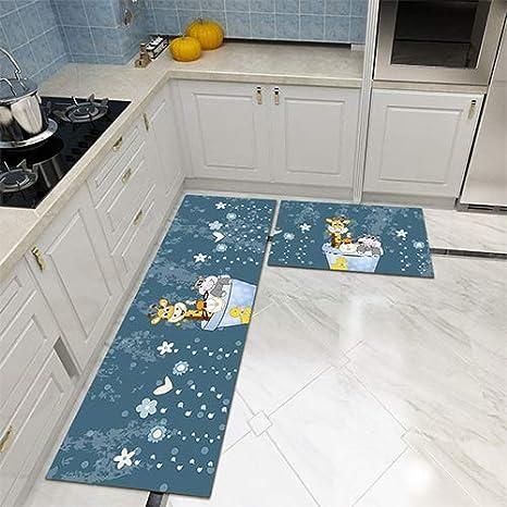 HYRL Anti-Fatiga alfombras de Cocina Antideslizante Forro ...