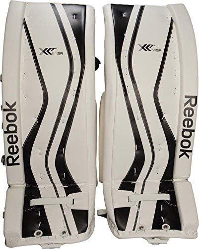 Ennegrecer Coche Marinero  Amazon.com : Reebok XLT Premiere Goalie Pads - 34+1 : Sports & Outdoors
