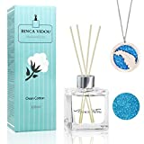 Best Diffuser Sticks - binca vidou Reed Diffuser Clean Cotton with Essential Review