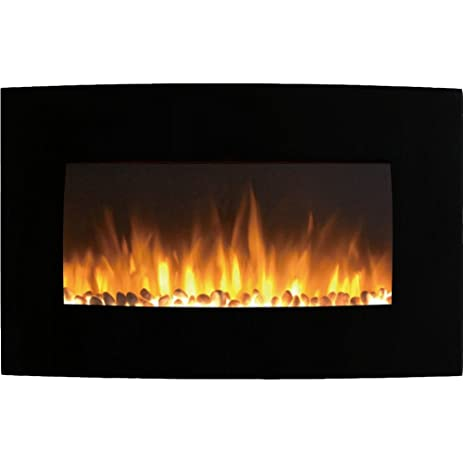 gas wall fireplaces. Regal Flame Broadway 35 quot  Pebble Ventless Heater Electric Wall Mounted Fireplace Better than Wood Fireplaces Amazon com