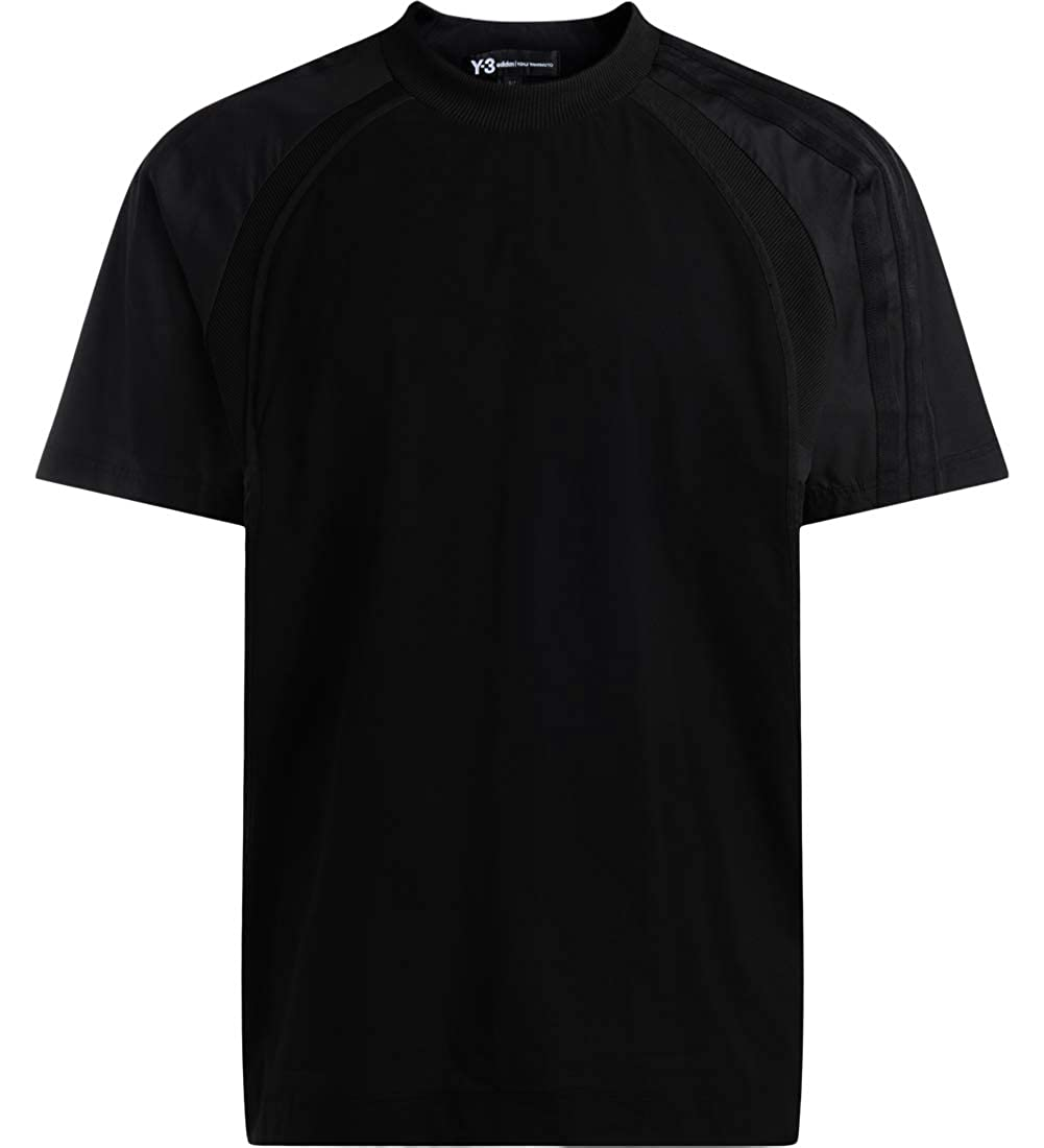 Noir S Y-3 T-Shirt de Couleur Noir en Tricot côtelé