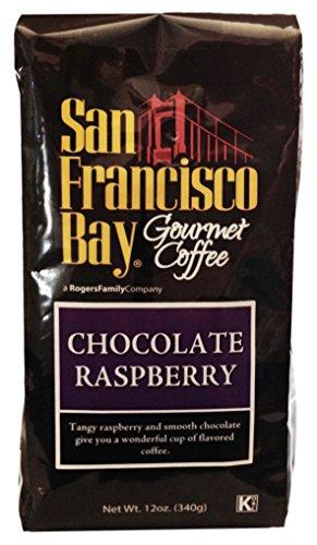 San Francisco Bay Coffee Whole Bean Coffee, Chocolate Raspberry, 12-Ounce Raspberry Beans