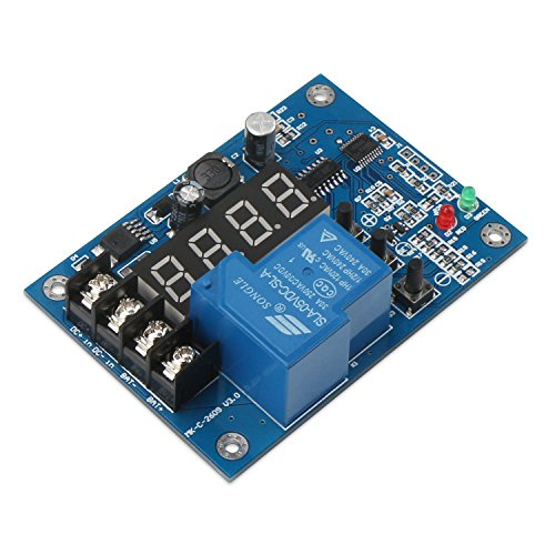 DROK Programmable Lead Acid Lipo Battery Charge Controller 6-60V 12V 48V 60V Battery Power Charger Control Monitor Board Lithium Battery Charging Regulator Module Battery Protection Switch
