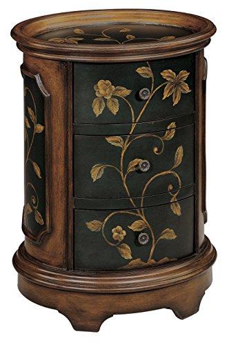 Stein World Furniture Ophelia Accent Table, Brown, Black (Stein Top)