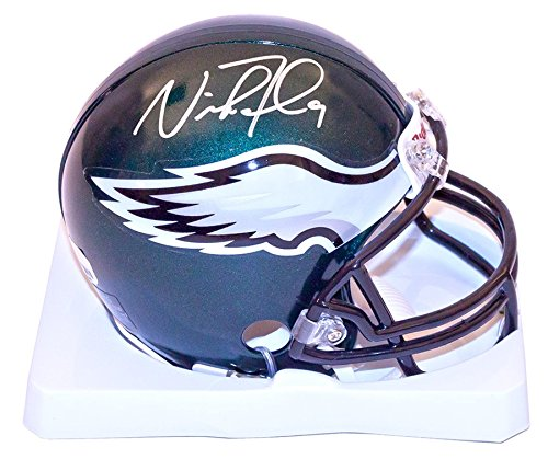 Nick Foles Signed Autographed Philadelphia Eagles Mini Helmet COA & Hologram with photo from signing from Signature Dog Autographs