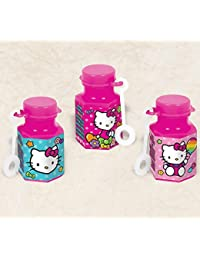 Bargain Hello Kitty Rainbow® Mini Bubbles Birthday Party Toy Favours (12 Pack), Pink, 0.6 oz.. discount