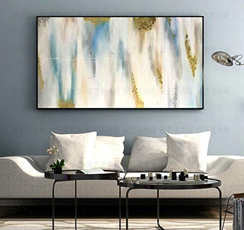 l Paintings,Abstract Landscape Style, Gradient Clouds, Painting On Canvas Art, Large Size Home Decor Wall Art, For Bedroom Living Room Bedside Restaurant Painting Without Frame,50 ()
