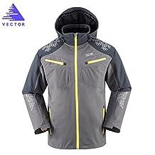 VECTOR Windproof Waterproof Men's Hooded Jacket for Running Hiking Fishing