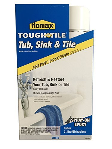 Homax 720771 32-Ounce Tub and Sink One-Part Spray-On Epoxy, White by Homax by Homax