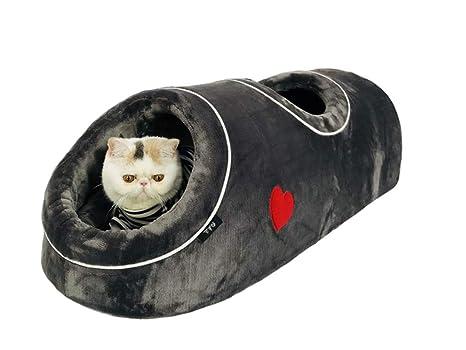 QZX Nido de Gato Plegable Cama Cueva del Gato Separación de nidos ...