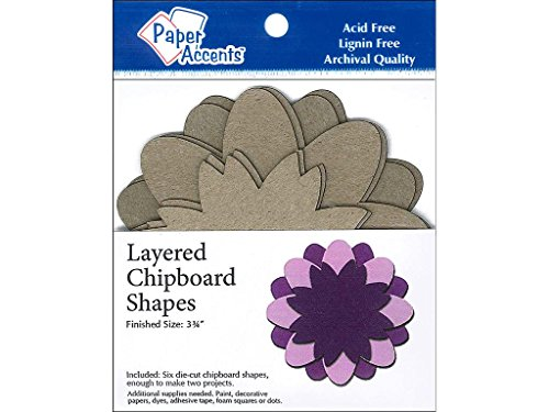 Accent Design Paper Accents ADPLSHAPE.6 Flower Layered by Accent Design Paper Accents