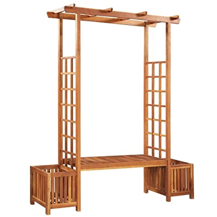 Swell Amazon Com Gohinstar Solid Acacia Wood Garden Pergola With Forskolin Free Trial Chair Design Images Forskolin Free Trialorg