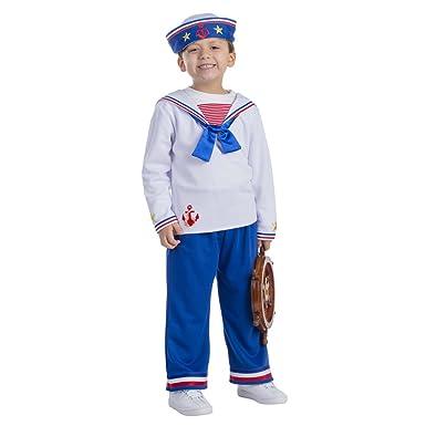 Sailor Boy Costume - Size Toddler 2  sc 1 st  Amazon.com & Amazon.com: Sailor Boy Costume By Dress Up America: Clothing