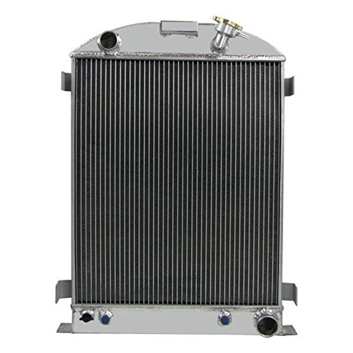- OzCoolingParts Ford Radiator - Designs Pro 3 Row All Aluminum Radiator for 1930-1938 Ford model A Chevy V8 Engine