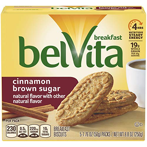 belVita Breakfast Biscuits, Cinnamon Brown Sugar, 8.8 Ounce (Pack of - Breakfast Biscuits