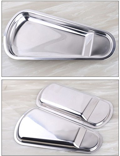 iecool Thick Stainless Steel Metal Square Fan-shaped Tray Silver Sector by iecool (Image #3)