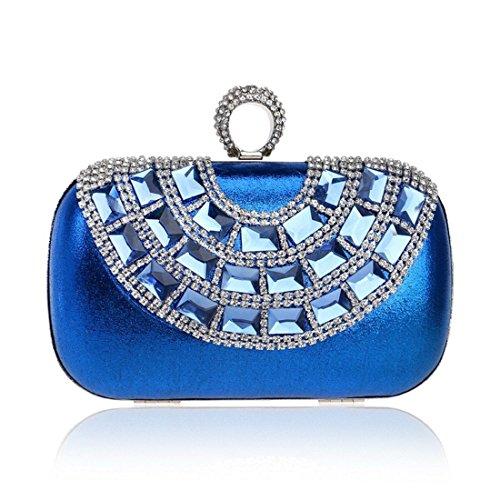 borsa da nuova da borsa Colore oro tempestata di sera diamanti sera lusso Borsa di Lady banchetto sera Wild da lusso Vola Blu Borsa da donna di wHUAqWxY