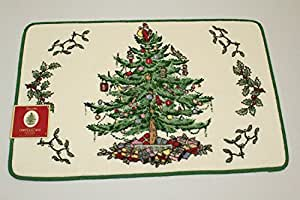 Christmas Tree Spode Bath Rug Home Kitchen