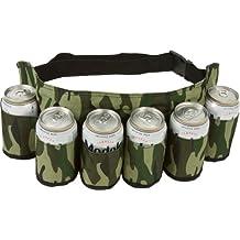 EZ Drinker Beer & Soda Can Holster Belt, Holds 6 Beverages
