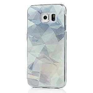 VCOER Samsung Galaxy S6 Funda Transparente Protectora Decoración PC Caso Manga Tapa Protección en Un Contenedor del Perro Patrón de diseño
